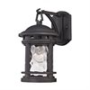 ELK lighting Costa Mesa 1 Light Outdoor Wall Lantern In Weathered Charcoal