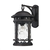 ELK lighting Costa Mesa 1 Light Outdoor Wall Sconce In Weathered Charcoal
