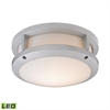 ELK lighting Colby 1 Light Outdoor LED Flushmount In Matte Silver