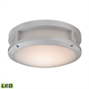 Colby 1 Light Outdoor Flushmount In Matte Silver
