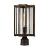 ELK lighting Bianca 1 Light Outdoor Post Lantern In Hazelnut Bronze