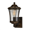 ELK lighting Morganview 1 Light Outdoor Sconce In Hazelnut Bronze