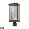 ELK lighting Newcastle Outdoor LED Post Mount In Matte Black