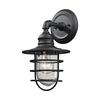 ELK lighting Vandon 1 Light Outdoor Wall Sconce In Charcoal