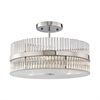 Nescott 3 Light Semi Flush In Polished Chrome