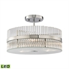ELK lighting Nescott 3 Light LED Semi Flush In Polished Chrome