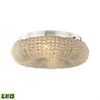 Crystal Ring 4 Light LED Semi Flush In Polished Chrome