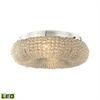 ELK lighting Crystal Ring 4 Light LED Semi Flush In Polished Chrome