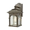 Stradelli 1 Light Outdoor Wall Sconce In Hazelnut Bronze With Clear Water Glass