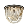 ELK lighting Optalique 5 Light Flush In Oil Rubbed Bronze