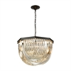ELK lighting Optalique 7 Light Chandelier In Oil Rubbed Bronze