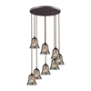 Darien 8 Light Pendant In Oiled Bronze