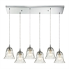 ELK lighting Darien 6 Light Pendant In Polished Chrome And Clear Glass