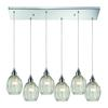 ELK lighting Danica 6 Light Pendant In Polished Chrome And Clear Glass