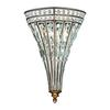 Empire 2 Light Wall Sconce In Mocha And Clear Crystal
