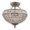 ELK lighting Empire 6 Light Semi Flush In Mocha And Clear Crystal