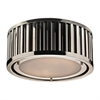 Linden Manor 2 Light Flushmount In Polished Nickel
