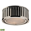 ELK lighting Linden Manor 2 Light LED Flushmount In Polished Nickel