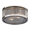 ELK lighting Linden Manor 2 Light Flushmount In Crystal And Polished Nickel