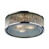 ELK lighting Linden Manor 3 Light Flushmount In Crystal And Polished Nickel