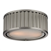 ELK lighting Linden Manor 2 Light Flushmount In Brushed Nickel