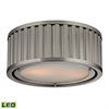 Linden Manor 2 Light LED Flushmount In Brushed Nickel