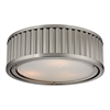 Linden Manor 3 Light Flushmount In Brushed Nickel