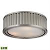 Linden Manor 3 Light LED Flushmount In Brushed Nickel