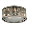 ELK lighting Linden Manor 2 Light Flushmount In Crystal And Brushed Nickel