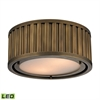 ELK lighting Linden Manor 2 Light LED Flushmount In Aged Brass