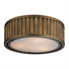 ELK lighting Linden Manor 3 Light Flushmount In Aged Brass