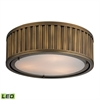 Linden Manor 3 Light LED Flushmount In Aged Brass