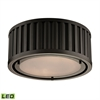 Linden Manor 2 Light LED Flushmount In Oil Rubbed Bronze