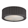 Linden Manor 3 Light Flushmount In Oil Rubbed Bronze