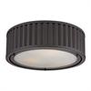 ELK lighting Linden Manor 3 Light Flushmount In Oil Rubbed Bronze