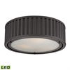 ELK lighting Linden Manor 3 Light LED Flushmount In Oil Rubbed Bronze