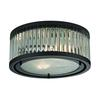ELK lighting Linden Manor 2 Light Flushmount In Crystal And Oil Rubbed Bronze
