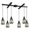 Duncan 6 Light Pendant In Oil Rubbed Bronze And Antique Mercury Glass