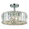 ELK lighting Clearview 3 Light Semi Flush In Polished Chrome