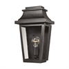 Covina 1 Light Outdoor Sconce In Matte Black