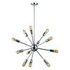 Delphine 12 Light Chandelier In Polished Chrome