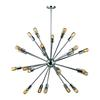 ELK lighting Delphine 24 Light Chandelier In Polished Chrome