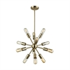 Delphine 12 Light Chandelier In Satin Brass