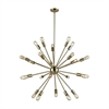 Delphine 24 Light Chandelier In Satin Brass