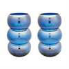 Lazy Susan Cobalt Ring Votive - Set Of 2