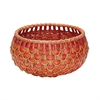 Lazy Susan Small Fish Scale Basket In Red And Orange