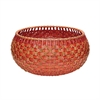Lazy Susan Large Fish Scale Basket In Red And Orange