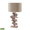 "Dimond 27"" Ginkgo Leaf LED Table Lamp in Rose Gold"