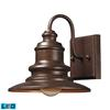 Marina 1 Light Outdoor LED Sconce In Hazelnut Bronze