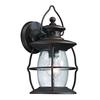 Village Lantern 1 Light Outdoor Sconce In Weathered Charcoal